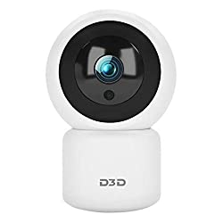 D3D Ultra HD 2 0 MP (1920x1080P) WiFi Wireless IP Home Security Camera CCTV with Cloud Storage,SD Card,360 Night Vision,Smart Tracking White (Model – T2816),D3D Security PVT LTD,T2816