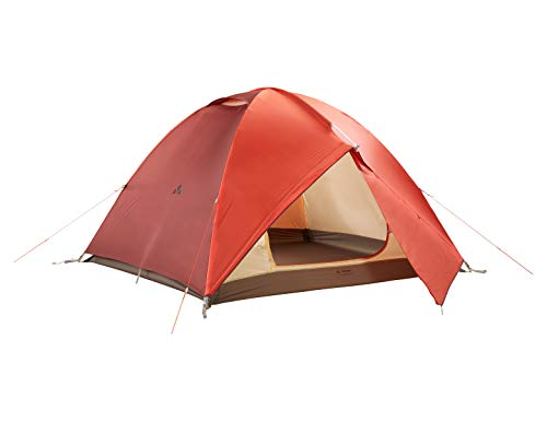 VAUDE 4-personen-zelt Campo Grande 3-4P, 3-4 personenzelt, extragroßes Zelt mit 2 Apsiden, terracotta, one Size, 142251700