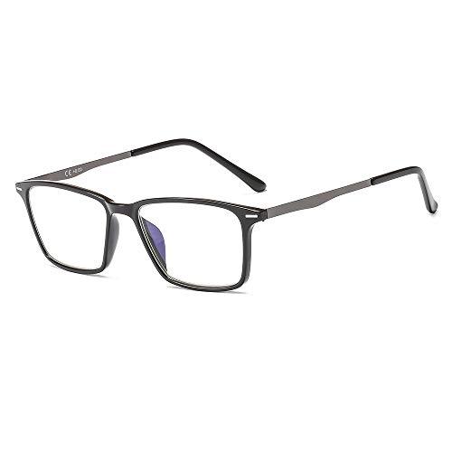 Suertree Blaulichtfilter Lesebrille Metall Sehhilfe Computerbrille PC UV Blaues Blockiert Brillen Damen Herren BM431 2.0X