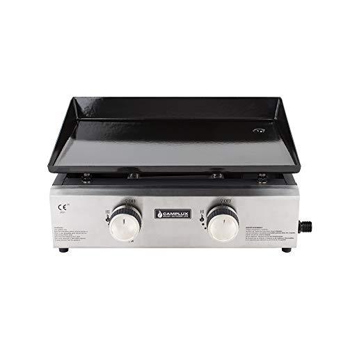 Camplux GP102S - Griglia portatile a 2 fuochi a gas, per barbecue da giardino, 4,0 kW, picnic all'aperto, per gas butano/propano