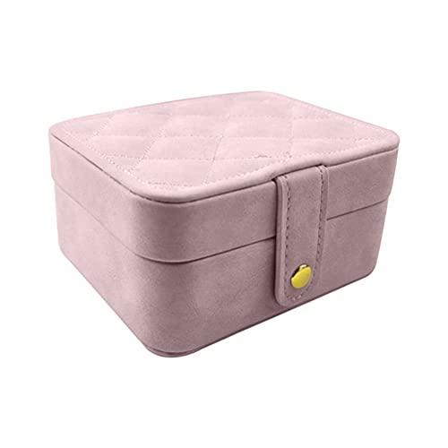 HMHMVM Caja de Almacenamiento de Joyas Pendientes de Anillo de joyería de Cuero Caja de sujeción portátil de Gran Capacidad