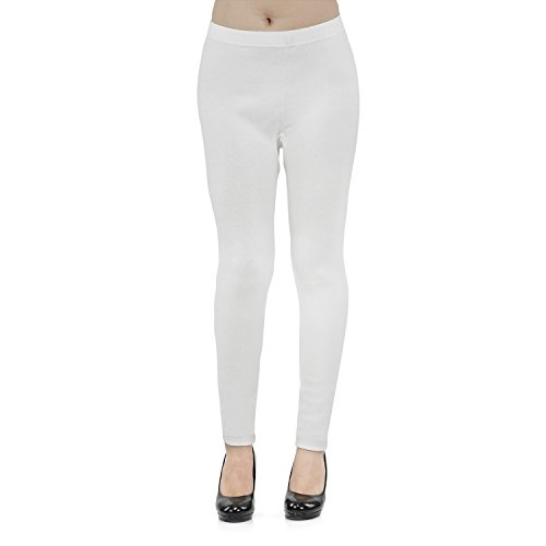 Vami Women's Leggings (VM3001_Off White Free Size)