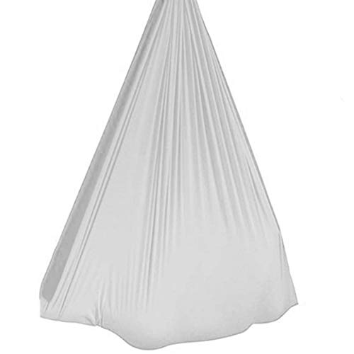 YXYH Sensory Swing Indoor Outdoor+360° Therapy Swing for Kids with Hanging Hardware for Children with Special Needs Autism ADHD (Color : White, Size : 100x280cm)