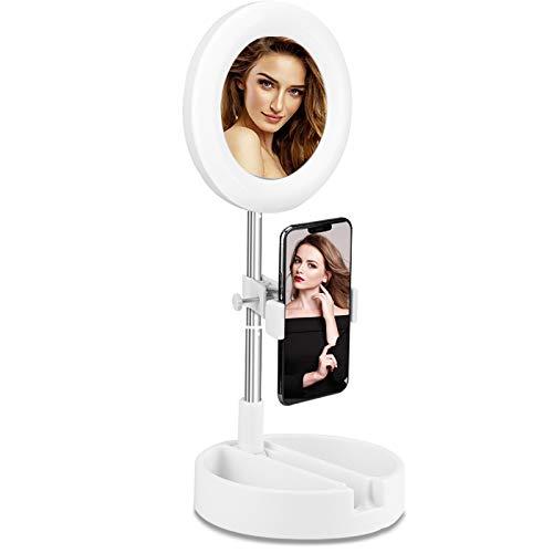 Espejos Con Luz Para Maquillaje Plegable espejos con luz para maquillaje  Marca Amailtom