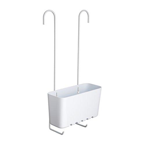 Tatay Standard Single Cesta organizadora de Ducha o bañera Ajustable a Todo Tipo de grifos plástico polipropiel, Blanco, 20.5 x 11 x 41.5 cm