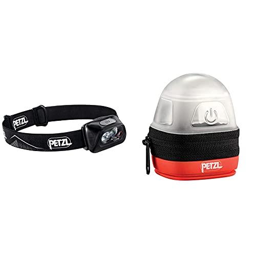 PETZL Actik Core Linterna (Linterna con Cinta para Cabeza, Black, Botones, Ipx4, CE, 450 LM) + -Noctilight, Negro/Naranja