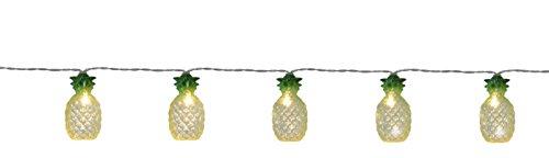 Tecstar 'Star Décoration de Jardin, LED chaîne de Fête Party Light Pineapples, 10 pièces, Vert, 180 x 3,5 x 3,5 cm, 726–95