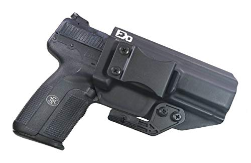 FDO Industries -Formerly Fierce Defender- IWB Kydex Holster FN Five-Seven -The Paladin Series -Made in USA- (Black)