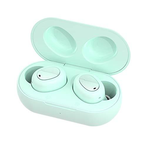 ZENING Kabellose Bluetooth-Kopfhörer, unsichtbar, Mini-Kopfhörer für Videospiele, Dual-Mikrofon, Sport, Bluetooth 5.0, mit Ladebox, binaurale Stereo-Ohrhörer