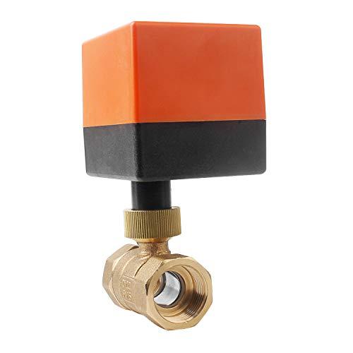 Preisvergleich Produktbild Kugelventil Elektrisch Zonenventil Solar Umschaltventil 2 Wage DN20 Absperrhahn AC 230V Ventil mit Steuermotor 0~6bar