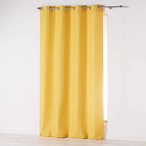 cortinas lino mostaza