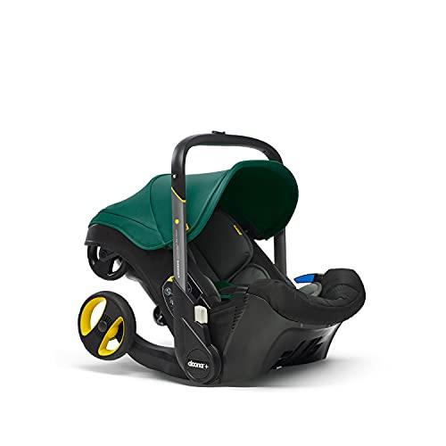 Doona+ 0+ Kindersitz - Die erste Babyschale mit integriertem Fahrgestell: Von Autositz zum Buggy in Sekundenschnelle - bis zu 13 kg - Racing Green/grün