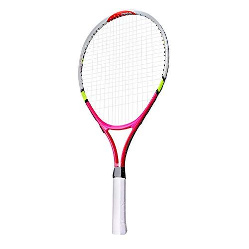 Yagosodee Raqueta de tenis con bolsa de raqueta, raqueta de tenis junior Sport Fun, aluminio, ligero, rojo
