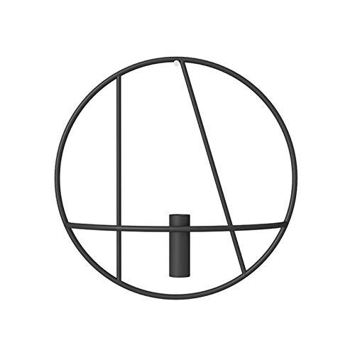 Estante pequeño Pantalla de la parrilla de la parrilla del estante del estante del estante del estante de la vela del metal Figura geométrica de la pared Decoración de la pared Sala de estar Estante d