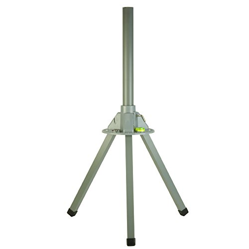 Dish Tripod with Level and Compass, 3 Feet Tall