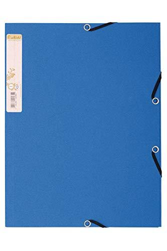 Exacompta 56982E - Carpeta con goma, A4, color azul