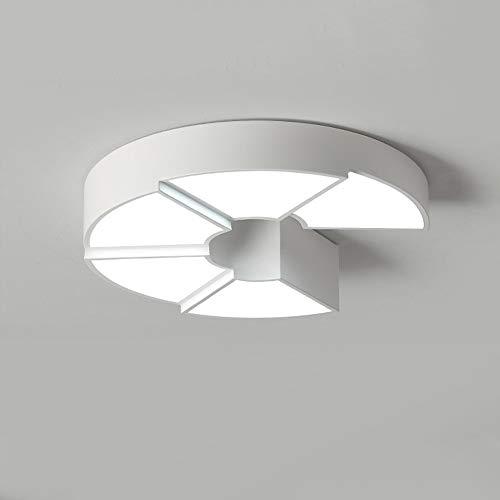 Moderne led-plafondlamp woonkamer dimbare plafondverlichting 24 W met afstandsbediening creatief eenvoudig rond design plafondlamp metaal acryl lampenkap binnen keuken lamp D45 cm × H11 cm wit