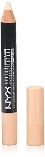 NYX Professional Makeup Gotcha Covered Concealer Pencil, Light Ivory, 0.04 Ounce