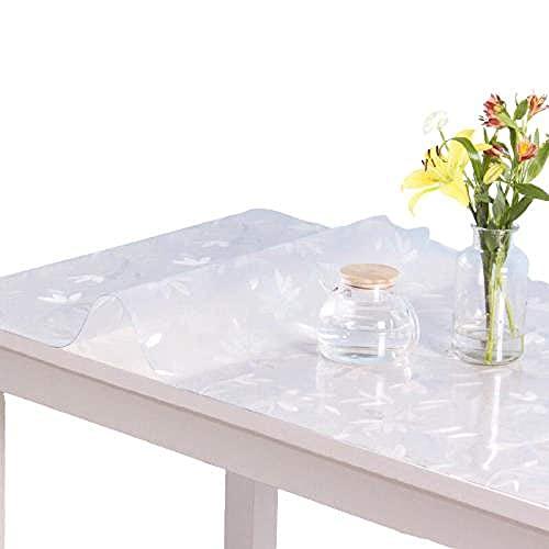 PXY Durable Pvc1.0Mm Mantel Mantel Cubierta de Mesa Transparente Cocina -A_60X130Cm,C,Los 75X145Cm