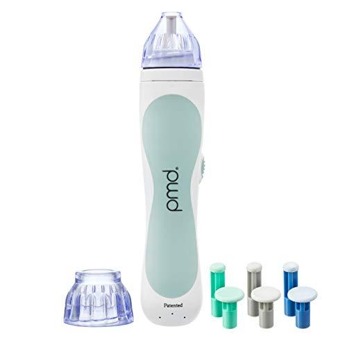 PMD Personal Microderm Classic - Máquina de microdermoabrasión casera con kit para rostro y cuerpo - Cristales exfoliantes y succión al vacío para lucir una piel fresca y radiante - Gris.