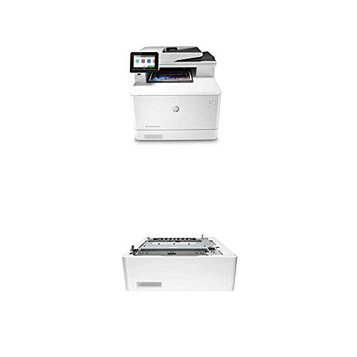 HP Color Laserjet Pro Multifunction M479fdn Laser Printer with Additional 550-Sheet Feeder Tray (CF404A)
