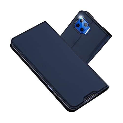 RADOO Kompatibel mit Motorola Moto G 5G Plus Lederhülle, PU Leder Handyhülle Brieftasche-Stil Magnetisch Klapphülle Etui Brieftasche Hülle Schutzhülle Tasche für Motorola Moto G 5G Plus (Blau)