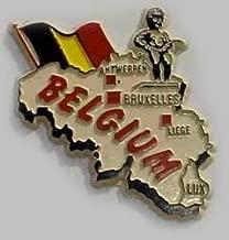 Flagline Belgium - Country Magnet
