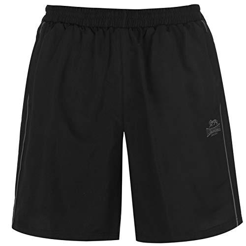 Lonsdale Herren Gewebte Shorts mit 2 Taschen aus Polyester Schwarz M