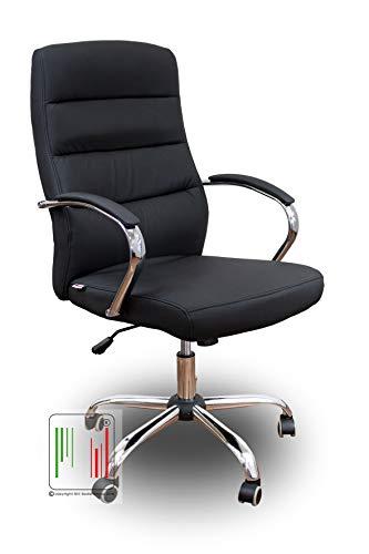 Stil Sedie - Poltrona Modello Sky Poltrona da Ufficio Imbottita ergonomica in Morbida Ecopelle