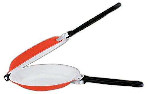 HAC24 Pfannkuchenpfanne Pancake Crepes Keramik Pfanne Doppelpfanne Wendepfanne Pfannkuchen-Pfanne Crepespfanne