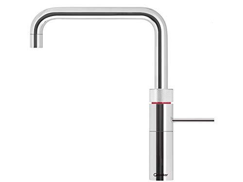 Quooker COMBI+ 2.2 Fusion Square Kochendwasserhahn / Kochendwasser-Armatur & Mischbatterie / verchromt glänzend CHR