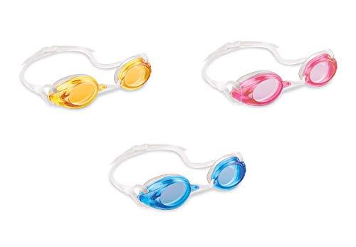 Intex 55684 Race Pro zwembril zwart/lichtblauw/rood, I.12