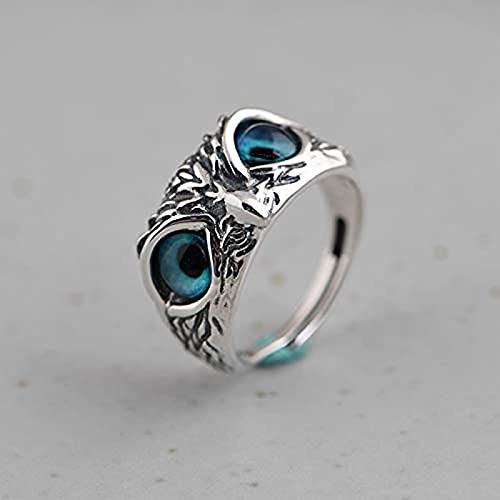 WEIXIANGYU Feroz Cobra Head Ring Dragón Serpiente Animal Ring Roca de los Hombres Anillo Exagerado Joyería de Moda Resizable WN874-3