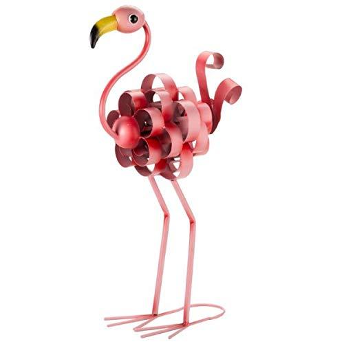 garden mile Exotic Bird Reclaimed Metal Sheet Garden Sculpture Statues Garden Lawn and Patio Ornaments Freestanding Decorative Statues For Home and Garden (Florence Flamingo)
