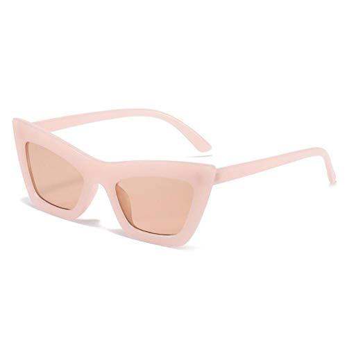 ZZOW Gafas De Sol De Ojo De Gato A La Moda para Mujer, Gafas De Color De Gelatina Vintage, Gafas De Sol con Gradiente De Té Rosa Claro, Gafas De Sol para Hombres, Tonos De Tendencia Uv400