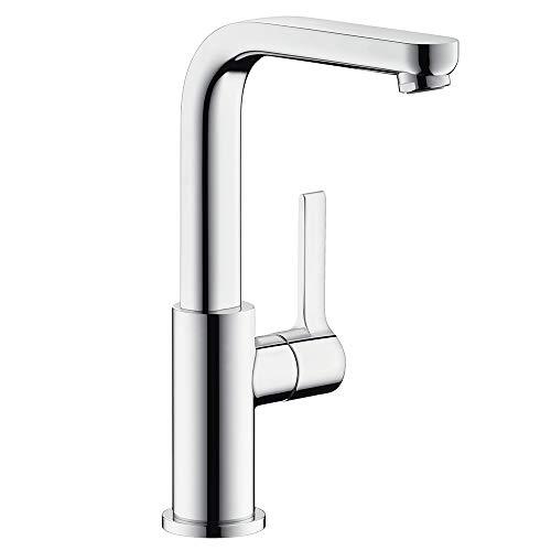 hansgrohe Wasserhahn Metris S (Armatur mit Auslauf Höhe 230mm und Push-Open Ablaufgarnitur) Chrom
