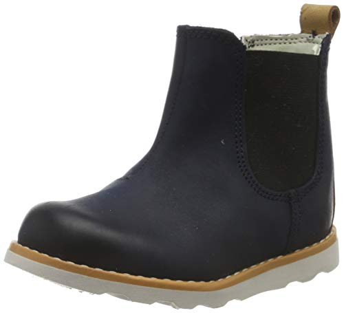 Clarks Jungen Crown Halo T Chelsea Boots, Blau (Navy Leather Navy Leather), 20 EU