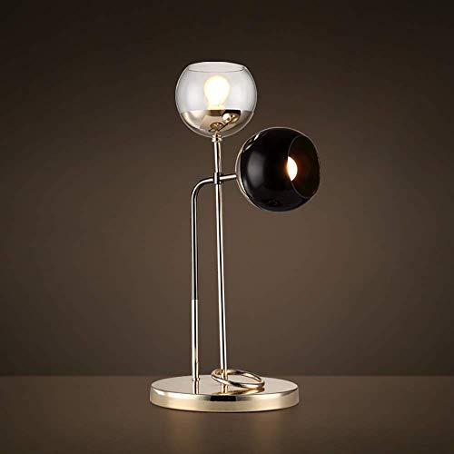 Lámpara de escritorio Lámpara de mesa Nórdica Postmoderna Minimalista Estudio Dormitorio Hierro Lámpara de escritorio de lectura Personalidad creativa Lámpara de mesa de escritorio retro 28 58 cm