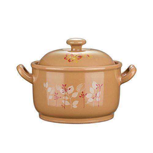 Casserole fonte Plat Ramequins avec Couvercles Casserole Cocotte avec couvercle for four en céramique Pot Pyrex Ménage marmite à soupe haute température de flamme ouvert Résistance Crock Pot soupe Pot