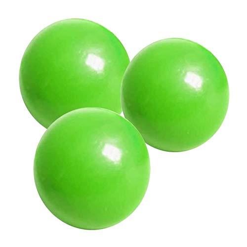 CZX Bolas de Pared Adhesivas de 3 Piezas, Bola de Pared Adhesiva luminiscente para Techo, Bola de ventilación para apretar Resistente al desgarro, Juguete Divertido para Ejercicio Anti-ansiedad