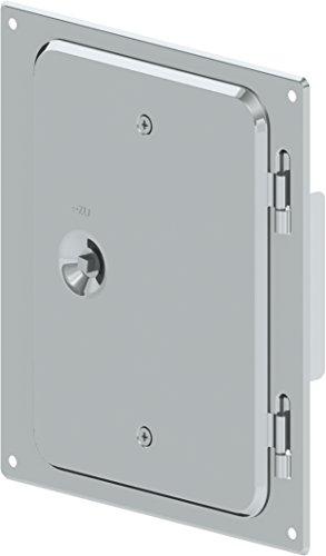 Kamintüre/Schornsteintüre 210 x 140 mm aus Edelstahl für einwandige Schornsteine