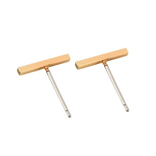 UINGKID Ohrstecker Mode Einfache Stilvolle Mode Legierung Ohrringe Ohr Ring Kombination von einfachen One Word Form Ohrringe