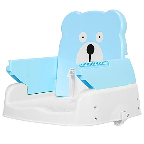 KOVALENTHOR Adjustable Height Portable Folding Booster Toddler Chair Tray, 2-in-1 Multi-Use, Perfect to Hold Babies in The Chair Safely When Dining