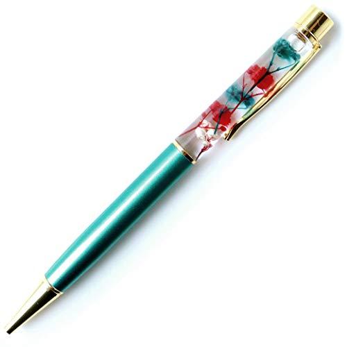 ハーバリウム ボールペン 太さ1.0mm 専用ケース付 花 フラワー (ピーコック�T)