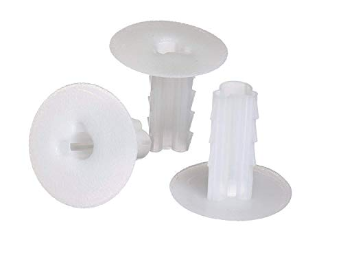 THE CIMPLE CO Single Feed Thru Bushing - (White) RG6 Feed Through Bushing (Grommet) Replaces Wallplates (Wall Plates) for Coax Coaxial Cable, Network Cable, CCTV - Indoor/Outdoor Rated - 10 Pack