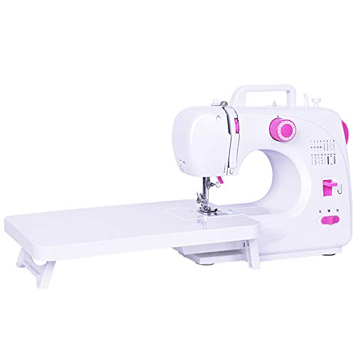 Cgoldenwall Draagbare elektrische naaimachine + 16 steken + automatische naaldinrijger, dikke stof voor het naaien