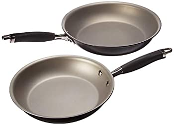 Anolon Advanced Hard-Anodized Nonstick French Skillet  10 & 12 - inch Pewter