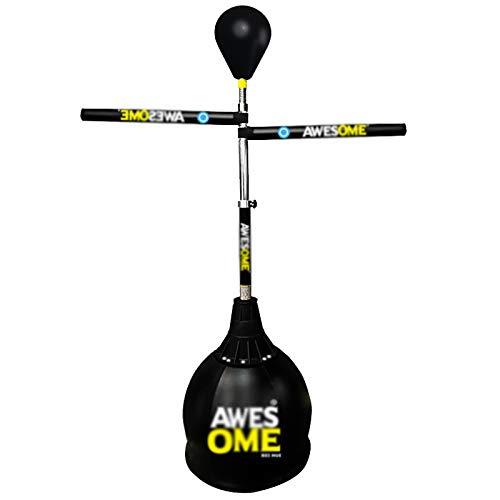 WILK Soporte Boxsack 360 ° Drehstab Training Standboxsäcke Höhe Verstellbarer Freistehender Punch Sandsack für Indoor & Outdoor Training & Fitness