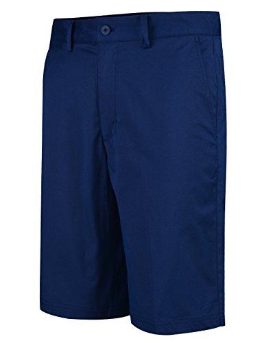 Lesmart Herren Golf Shorts Chino Sommer Hose Kurz für Männer Cool Solid Baumwolle Größe 46''Taille 118cm Navy Blau