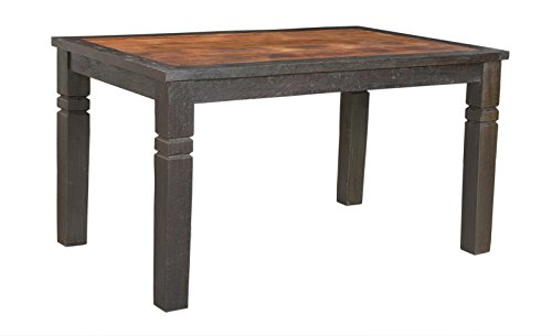 SIT-Möbel Fortezza 7620-30, Tisch im kolonial Stil, recyceltes Altholz, braun & schwarz abgesetzt, 200 x 100 x 76 cm